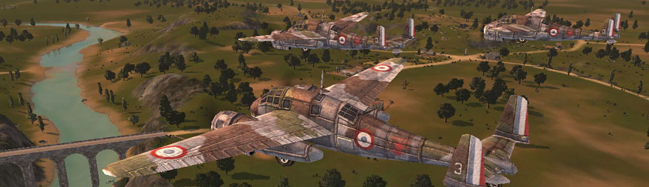 Aerial landscape from War Leaders map