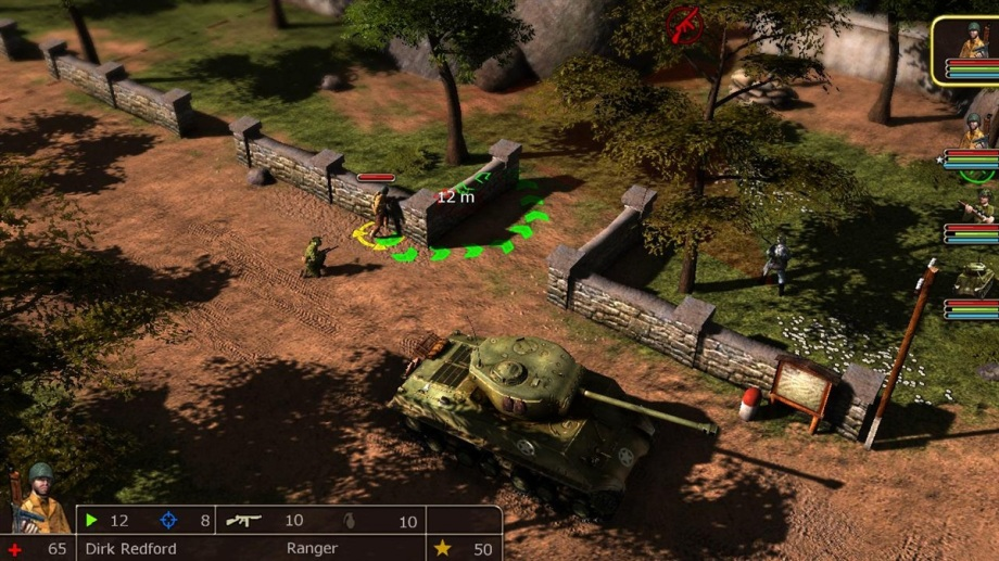 In-game screenshot - Deploying units in the area