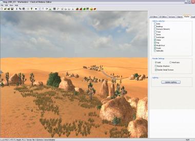 Level building - Desert environment