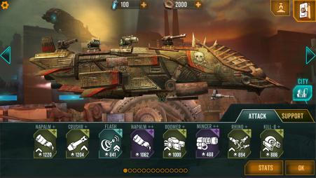 In-game screenshot Sandstorm: Pirate Wars - The Hangar